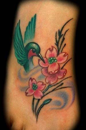 pretty little hummingbird foot