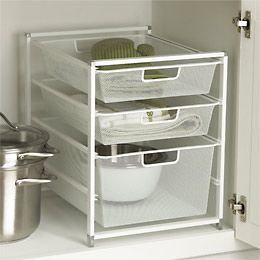 Cabinet-Sized elfa Mesh Drawer Solution - for health and beauty items in the bathroom cabinet?