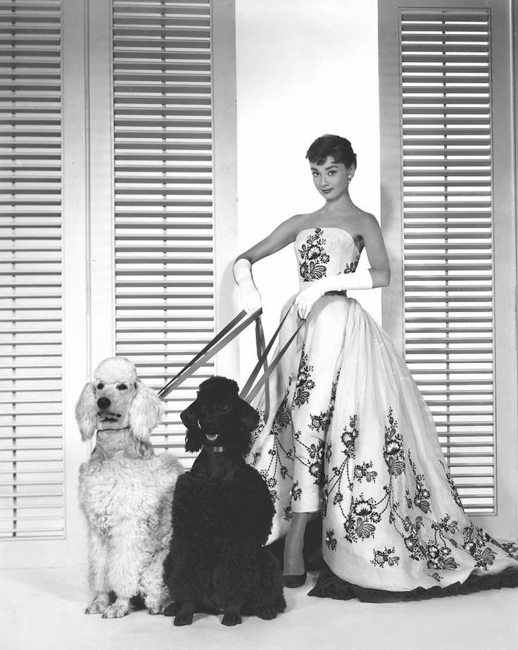 Glam Audrey Hepburn style.