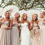 I like the idea of having all the bridesmaids in the same dress then the maid of honor in a different one.