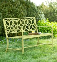Metal Butterfly Garden Bench | Outdoor | Pinterest