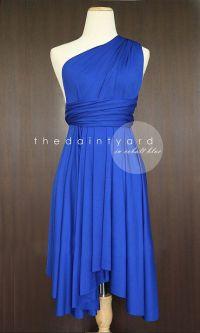 Cobalt Blue Bridesmaid Convertible Dress Infinity Dress ...