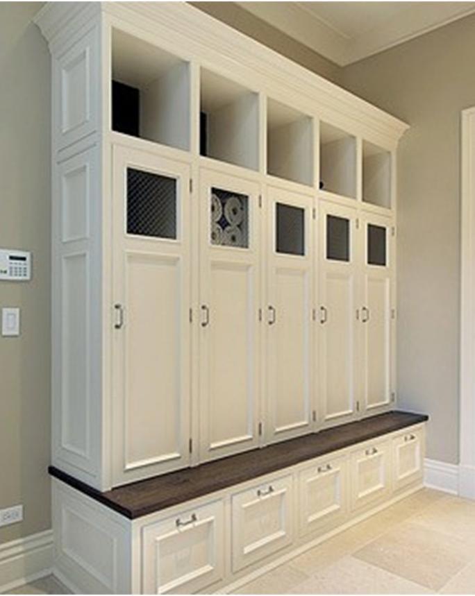 Big mudroom cabinet  Home  Pinterest