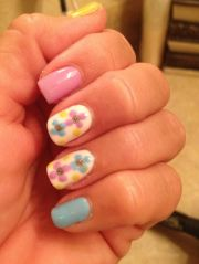 gel nails in pretty summer colors
