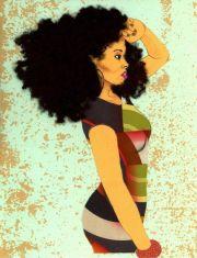 natural hair art beautiful black