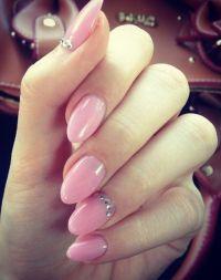 pink almond nails design | Hair & nails | Pinterest
