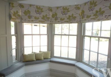Bay Curtains On Pinterest Bay Windows Roman Blinds And