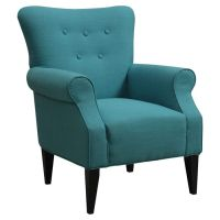 Teal Arm Chair. | Art in Furniture | Pinterest