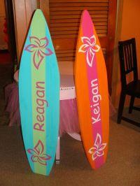 4 Foot Surfboard wall art, Beach decor wall hanging (Will ...