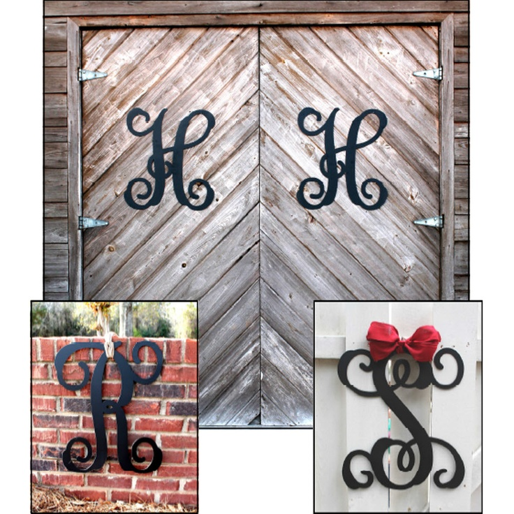Metal Single Initial Monogram