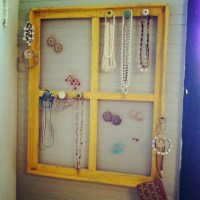 Old wooden window turned jewelry holder! | Craft Ideas ...
