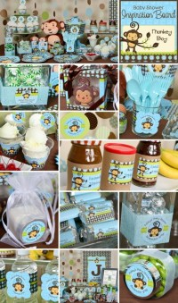 Monkey Boy baby shower or birthday party theme is one of ...