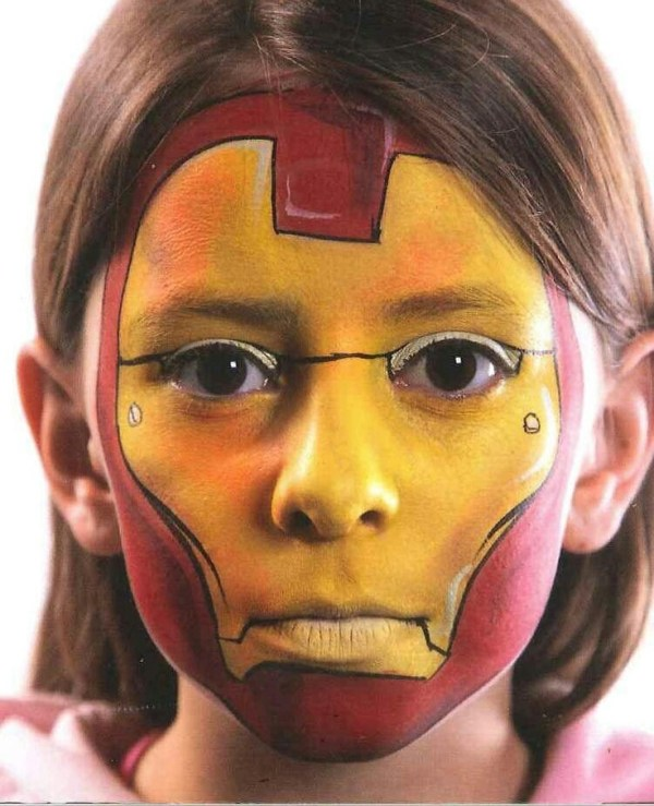 Iron man Face painting Pinterest