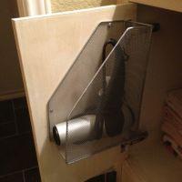 DIY Hair dryer holder   Favorite Spaces   Pinterest