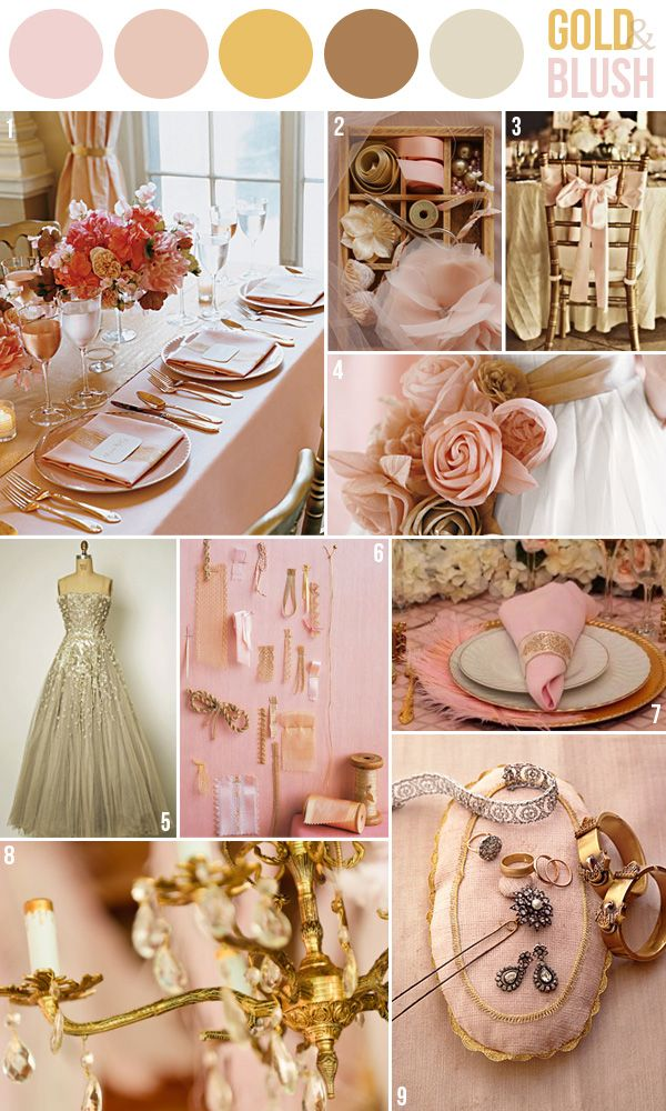 Hey Look - Event styling, design inspiration, DIY ideas and more: GOLD & PINK - TWO WAYS
