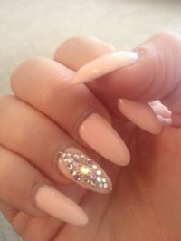 Almond nails with design | girl stuff | Pinterest