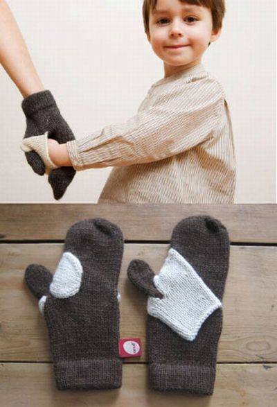 so clever... hand-holding mitten