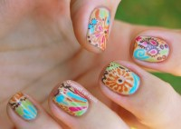 hippie nail art | nail ideas | Pinterest