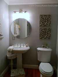My Powder Room Decorating Makeover {for less than $15