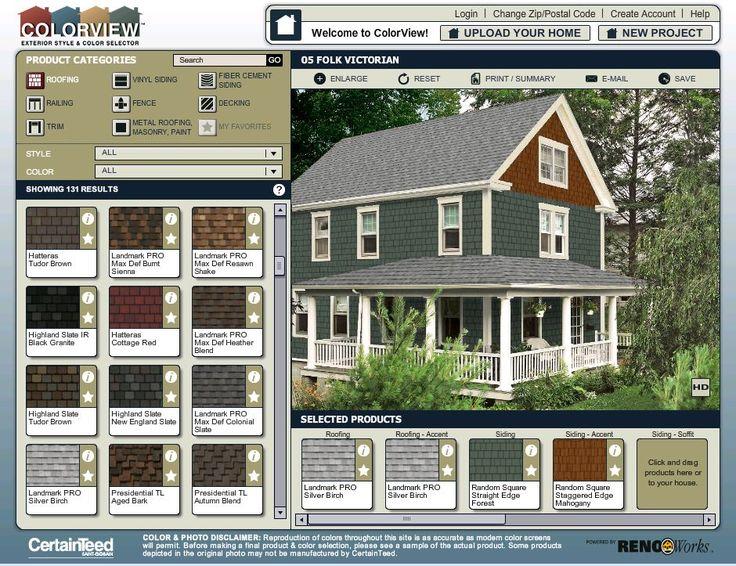 House Paint Colors Exterior Simulator
