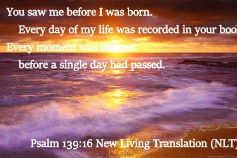 Psalm 139.16 New Living Translation (NLT)