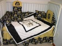CRIB NURSERY BEDDING SET MADE/W NEW ORLEANS SAINTS | eBay ...