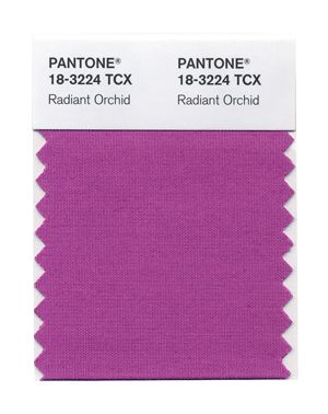"Pantone's Spring 2014 colors. 8. Radiant Orchid, ""a bold counterpart to Violet Tulip"""