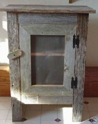 Old Barn Wood Cabinet  LOVE THIS! | Country Decor | Pinterest