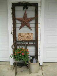 Old screen door   Gardening   Pinterest