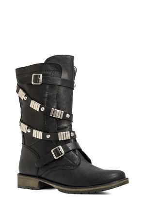 Normandy moto boot #justfab