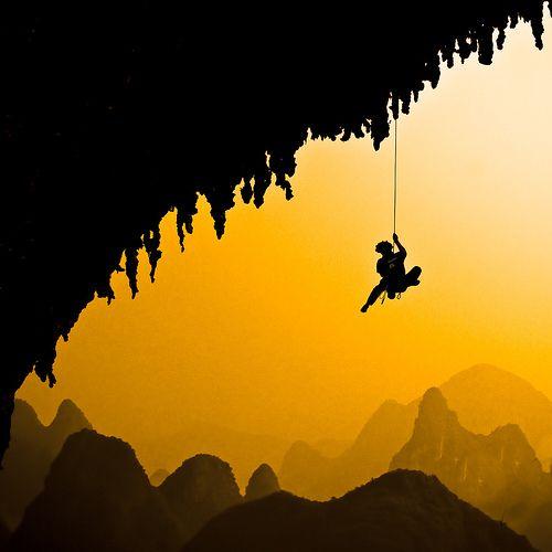scalatore Sulle montagne