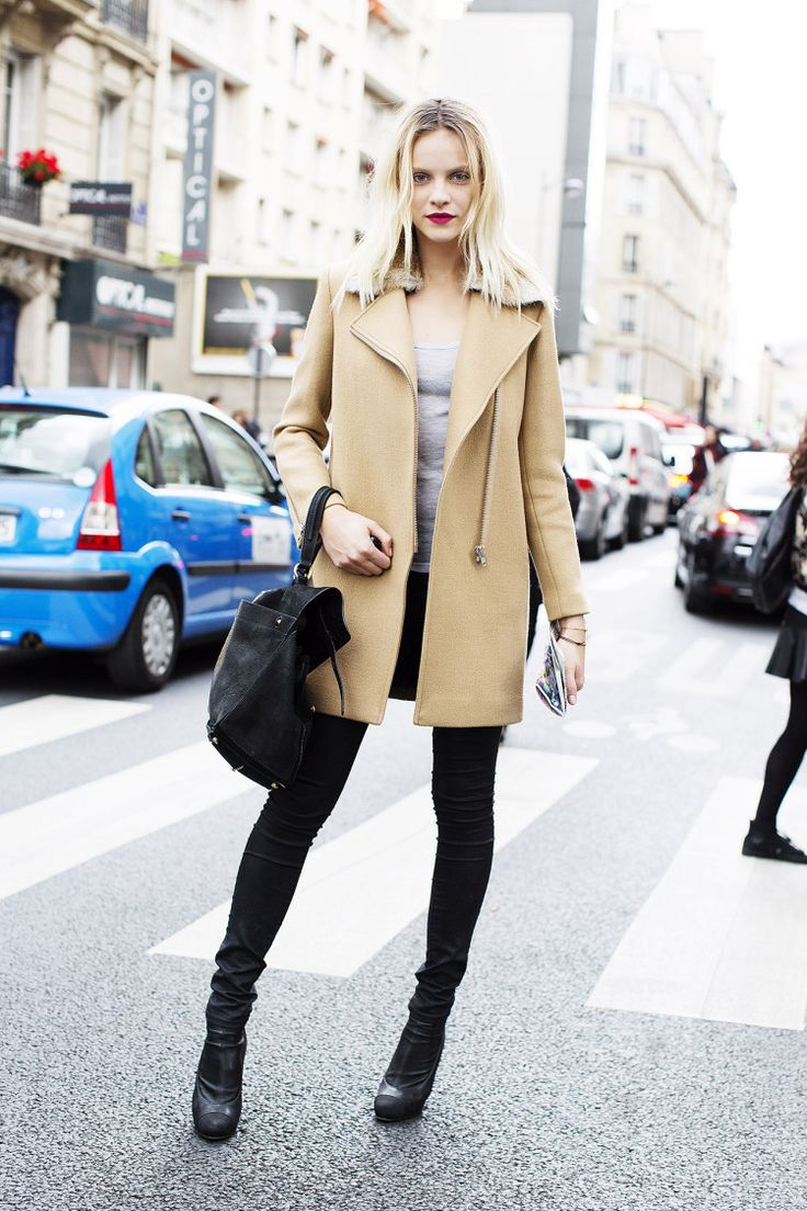 Paris - camel coat