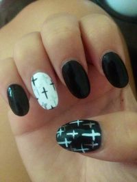 Pointy Nails Designs With Cross   Joy Studio Design ...