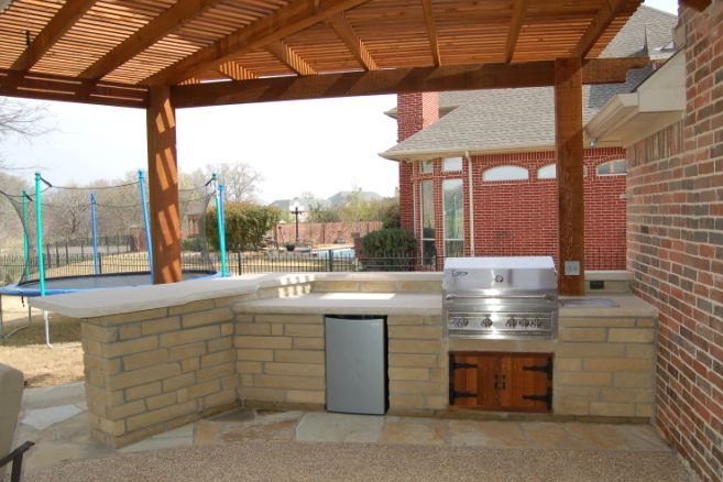 Outdoor Kitchen  And you may find yourself in a beautiful houseand you may ask yourself