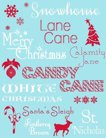 My Country Girl Ramblings My Favourite Free Christmas Fonts