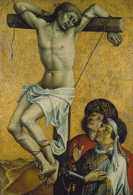 Master of Flemalle (Robert Campin), The Thief to the Left of Christ. Ca. 1430. 134,2 x 92,5 cm. On oak wood. Städel Museum, Frankfurt am Main. Photo:© U. Edelmann - Städel Museum - ARTOTHEK.