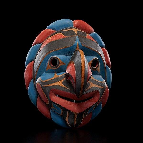 John Livingston Kwakwaka'wakw Carved Mask Kwakiutl