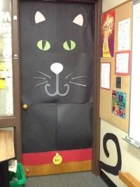 Black cat door   Door Decor   Pinterest
