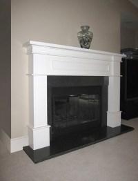 concrete fireplace face   Fireplace ideas   Pinterest