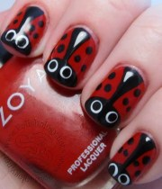 ladybug nails girl stuff