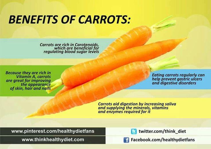 Benefits Of Carrots | Health & Beauty Tips | Pinterest