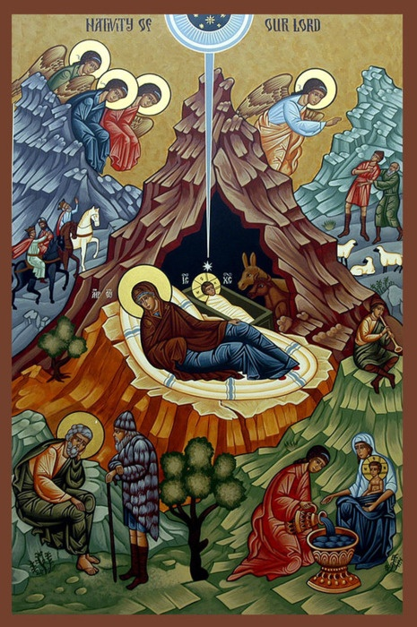 The Nativity. Beautiful. #Catholic #Orthodox #Christianity #Jesus Virgin #icons #art