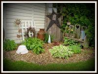 Rustic garden decor | My Yard | Pinterest