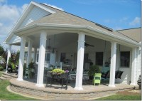 Huge covered patio addition | DIY | Pinterest