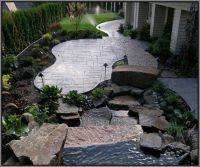 Backyard Stamped Concrete Patio Ideas | Mystical Designs ...