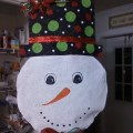 My snowman door hanger things i made pinterest