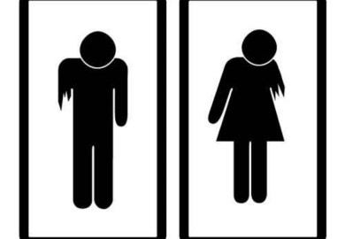 Zombie Bathroom Sign