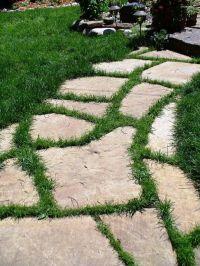 flagstone path with grass | Walks Pathways | Garden Ideas ...