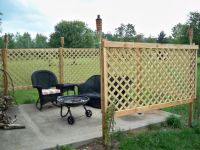 Patio Privacy - DIY Lattice Fence | For the Home | Pinterest