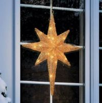 LIGHTED GOLD CHRISTMAS STAR Outdoor Yard Art Holiday ...